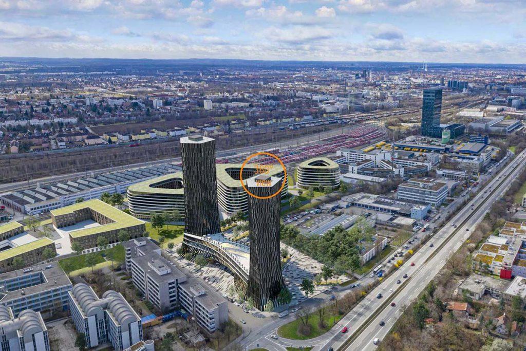 3D-360°-Panorama-Visualisierung-Hochhaus-Bürogebäude-München