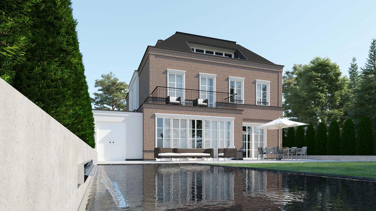 3dkad-3D-Visualisierung-Villa-Wohnungsbau-Englischer Garten-München