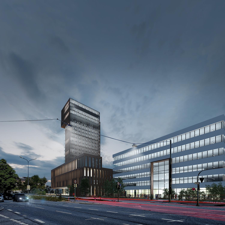 3dkad-3D-Visualisierung-Bürogebäude-Hochhaus-München-F227